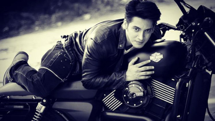 Ayyaz Ahmed with his bike