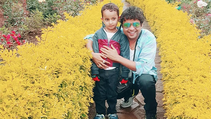 Yogesh with his son