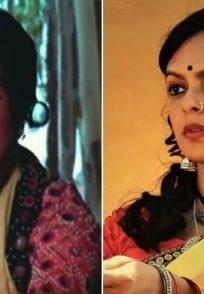 Bidita Bag as Hema Malini's body double Reshma Pathan in Sholay