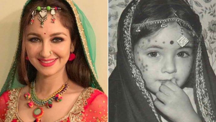 Childhood picture of Bhabi Ji Ghar Par Hain actress Saumya Tandon