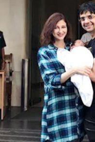 Saumya with her baby