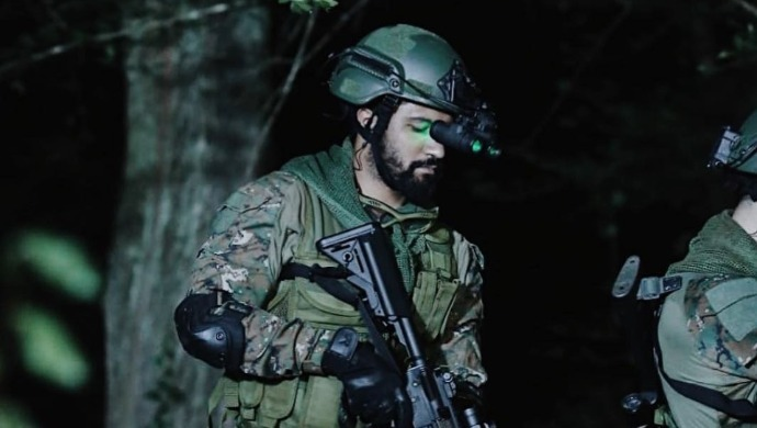 Vicky Kaushal as an Indian soldier in Uri The Surgical Strike