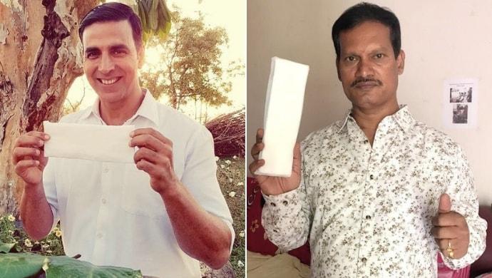 Akshay Kumar and Arunachalam Muruganantham