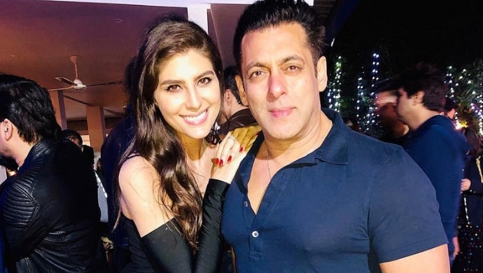 Elnaaz Norouzi with Salman Khan