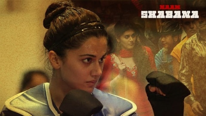 Taapsee Pannu in a still from Naam Shabana film