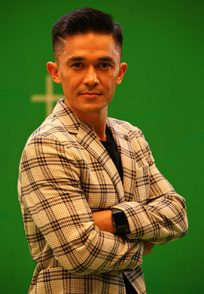 Indian Footballer Sunil Chhetri makes on the sets of Bombers