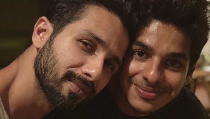 Shahid Kapoor with brother Ishaan Khatter