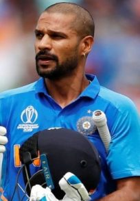 Shikhar Dhawan at India vs Australia match of ICC Cricket World Cup 2019