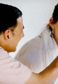 Akshay Kumar and Sonam Kapoor in a scene from Pad Man