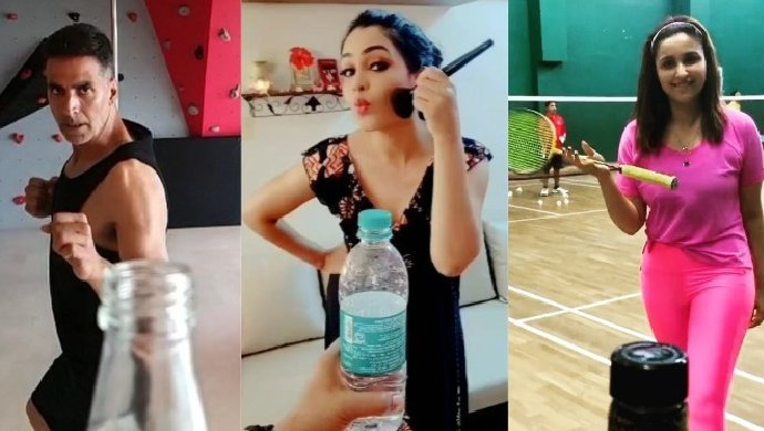 Bottle Cap Challenge by Shubhangi Akshay Kumar and Parineeti Chopra