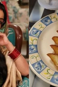 Shubhangi Atre with her desserts dish