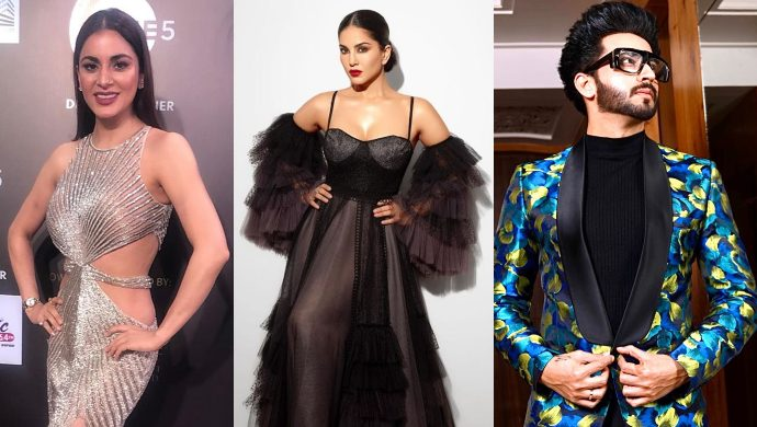 Sunny Leone, Shraddha Arya, Dheeraj Dhoopar at Gold Awards 2019