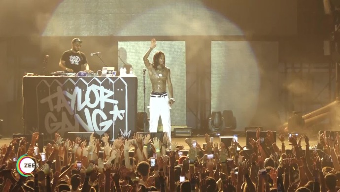 Scenes from Wiz Khalifa's Mumbai concert