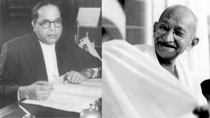 Dr. Ambedkar goes against Gandhi