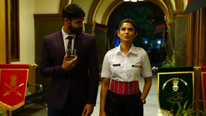 Jennifer Winget and Tanuj Virwani in a scene still from Code M