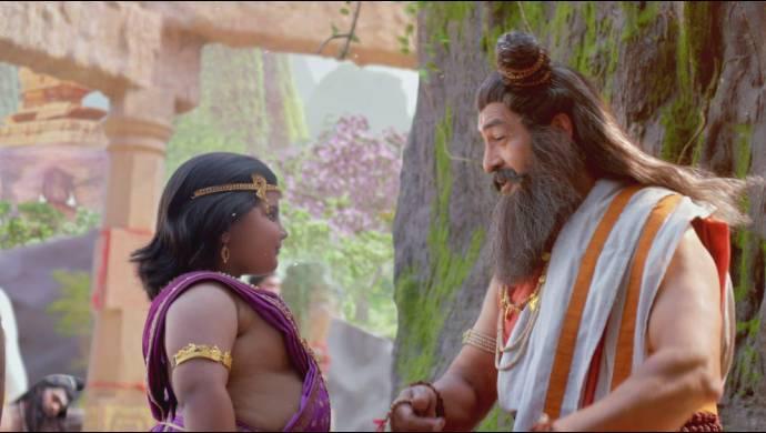 A still from Kahan Hanuman Jai Shri Ram