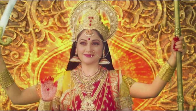 A still from Santoshi Maa Sunayein Vrat Kathayein