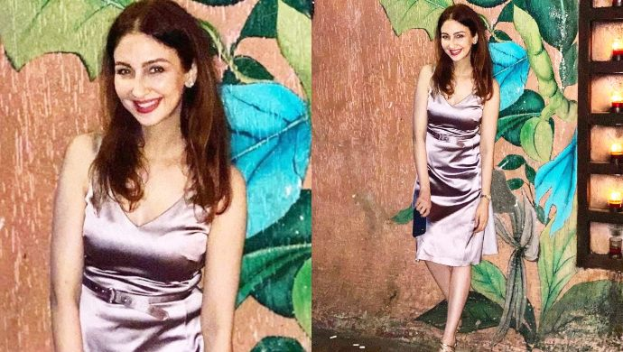 Saumya Tandon in a satin outfit