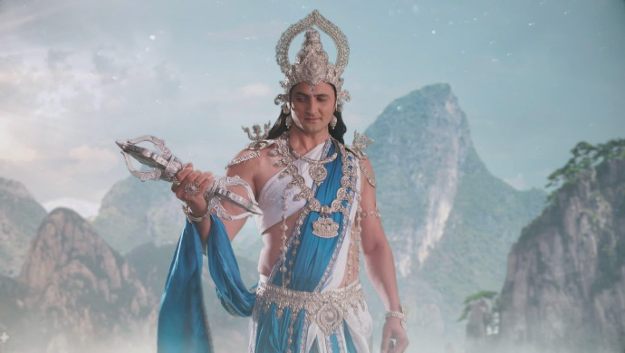 Still from Kahat Hanuman Jai Shri Ram with Lord Indra