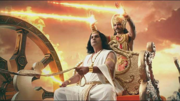 A still from Kahat Hanuman Jai Shri Ram