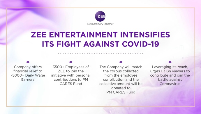 ZEE Entertainment Fights against Covid-19