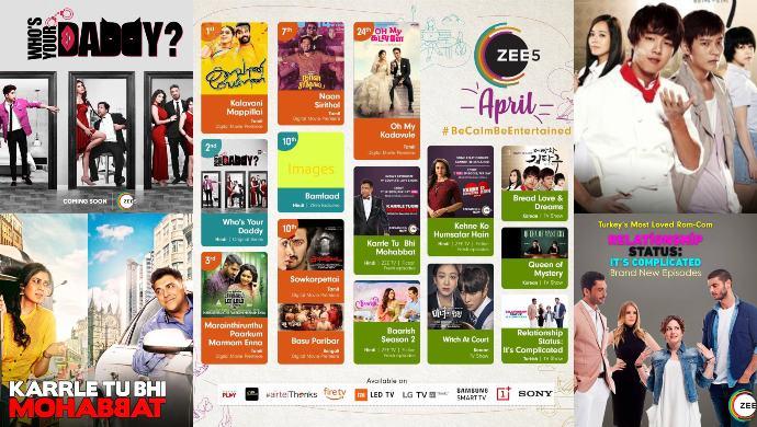 ZEE5 April Calendar of Original shows and films