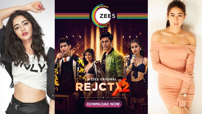 Ananya Pandey and Sara Ali Khan watching REJCTX 2 on ZEE5