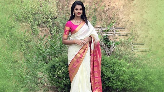 Anusha Hedge in a saree