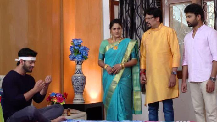 Aditya With His Family in Akka Chellellu