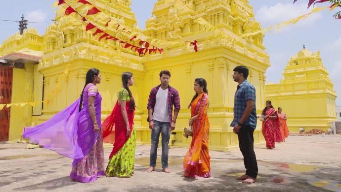 Abhi-Soundarya, Surya-Chandrika and Aishwarya in Muddha Mandaram