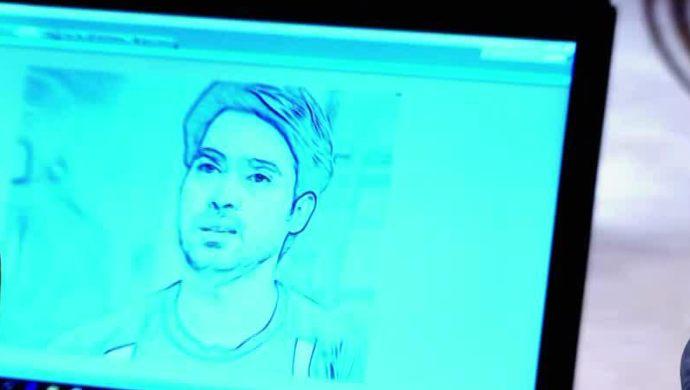Abhi's sketch in Muddha Mandaram