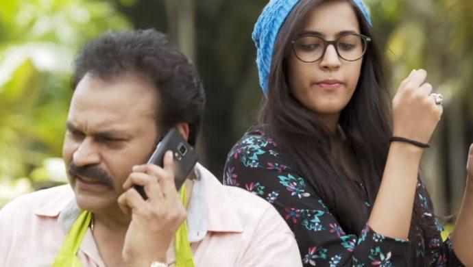Nagendra Babu and Niharika Konidela in Nanna Koochi