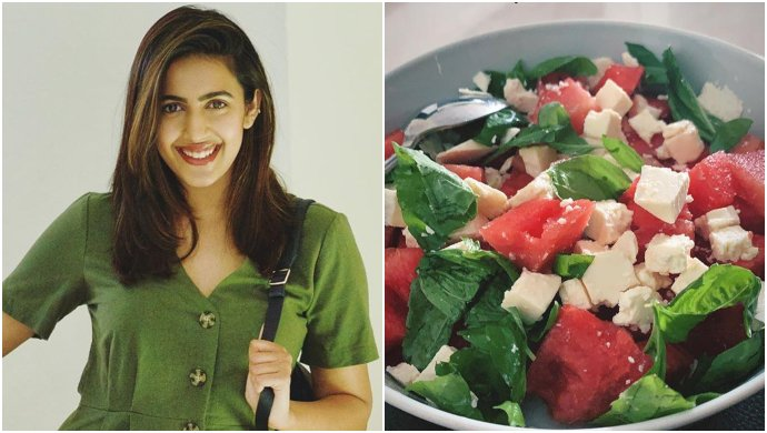 Niharika Konidela Watermelon and Feta salad