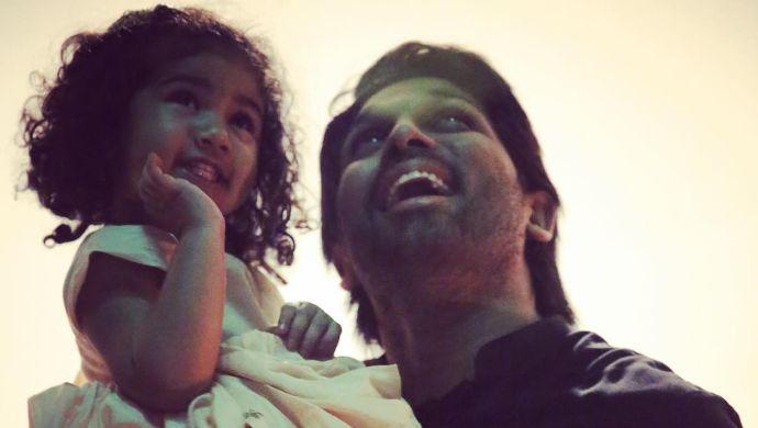 Allu Arjun and Allu Arha
