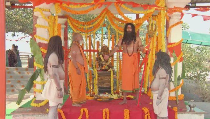 Chamalayya Shashtri and a Monk in Kalyana Vaibhogam