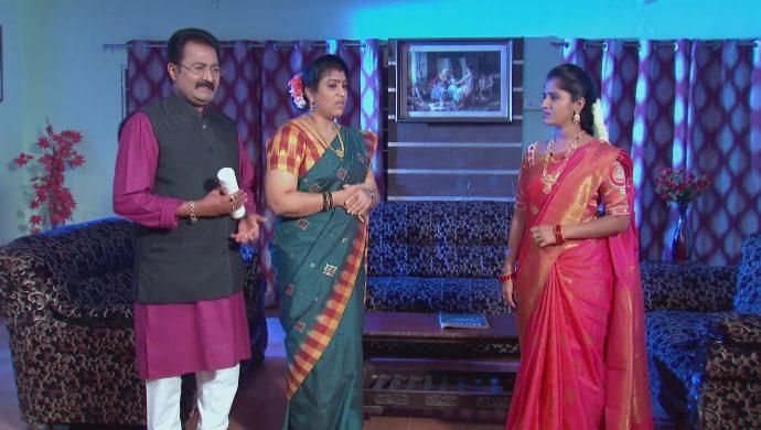 Chandrika and Prasad with Manga in Kalyana Vaibhogam