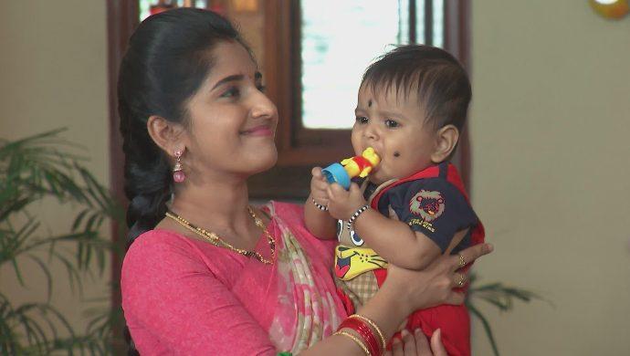 Manga and the baby in Kalyana Vaibhogam
