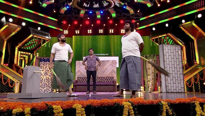Chandra with Jaani Master and Raghu Master in Babu Gari Intlo Butta Bhojanam