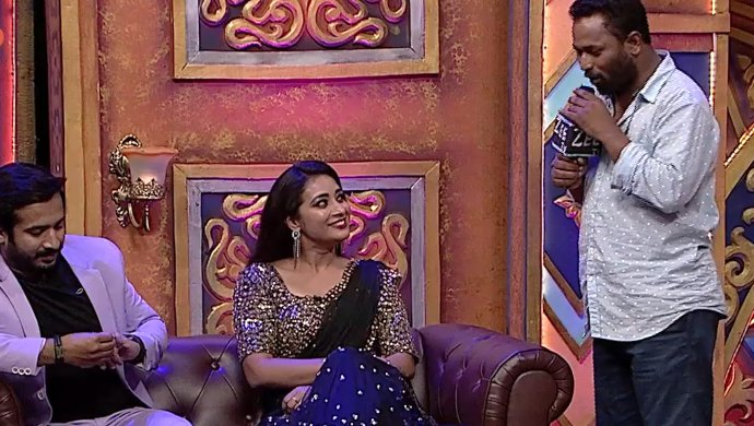 Ravi, Bhanu and RP in Adhirindi Episode 14