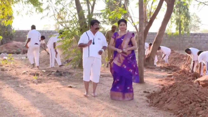 Vinaya and her brother in Thoorpu Padamara
