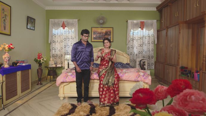 Vinaya and her husband in Thoorpu Padamara