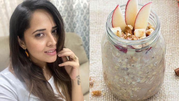 Anasuya Bharadwaj Apple Pie Oats Recipe