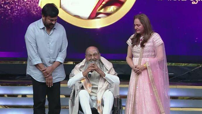 K Vishwanath, Chiranjeevi and Jaya Prada at Zee Cine Awards ZCA 2020