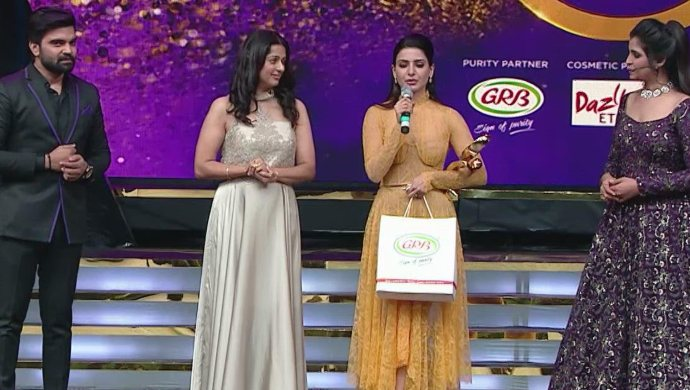Samantha with others at Zee Cine Awards ZCA 2020