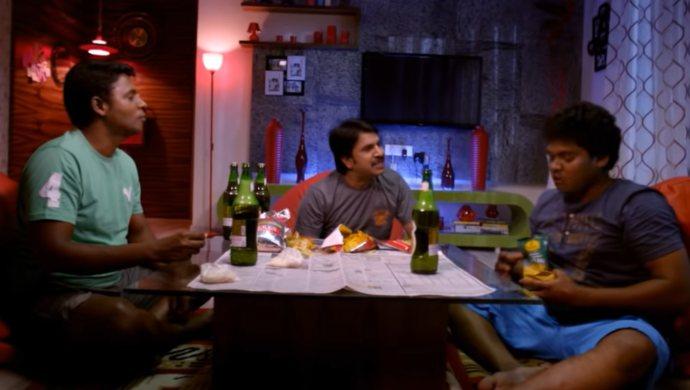 Sathyam Rajesh, Srinivas Reddy, Shankar in Geethanjali 2014