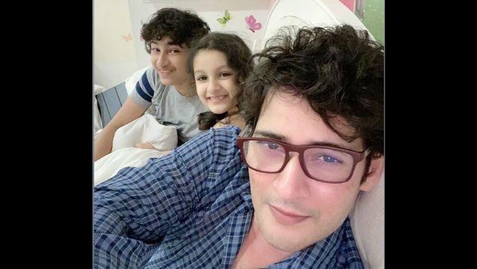 Mahesh Babu with Gautam and Sitara