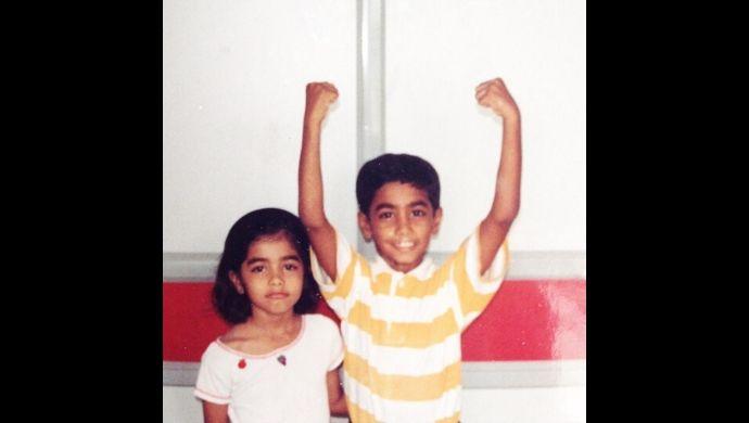 Pooja Hegde and Rishabh Hegde