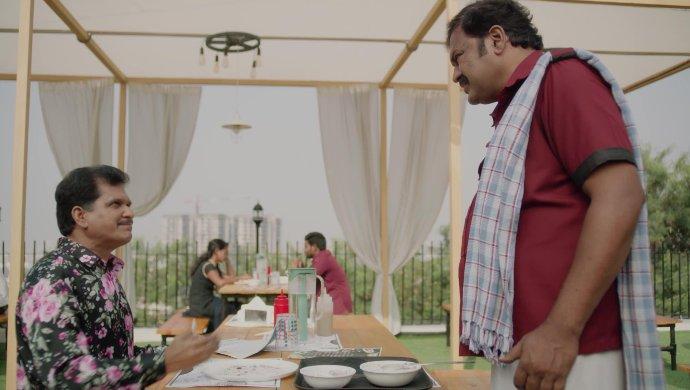 Appaji and Sarvam in Amrutham Dhvitheeyam Episode 8