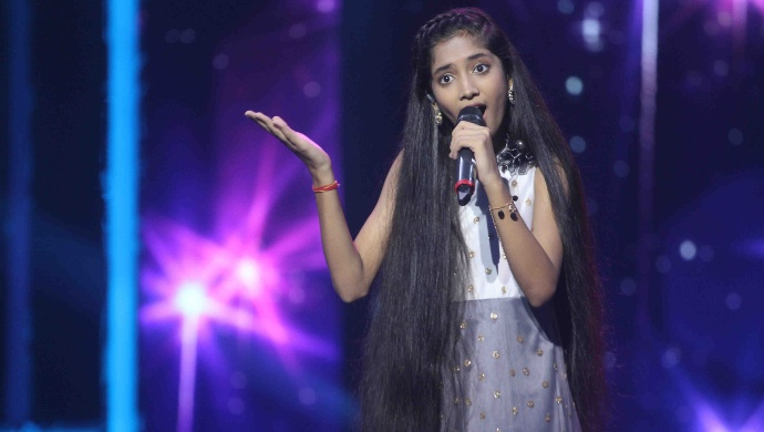 Sugandha Date at Sa Re Ga Ma Pa Lil Champs 2019 grand finale