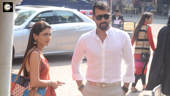 Abhi and Pragya at court in a still from Kumkum Bhagya